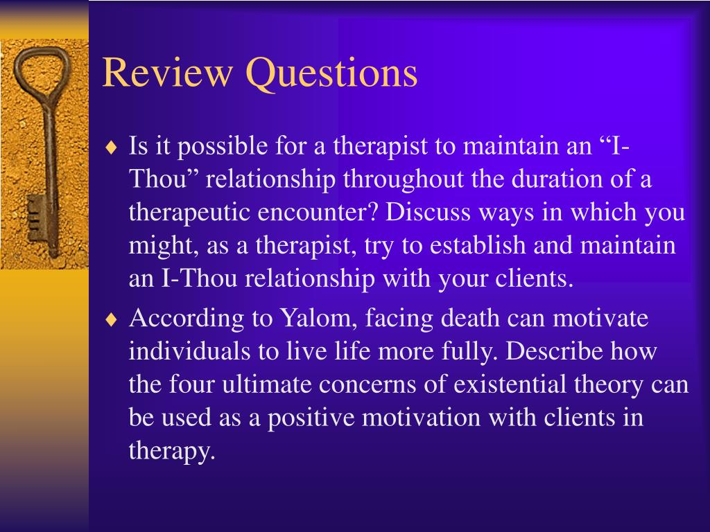 i thou relationship existential therapy definition