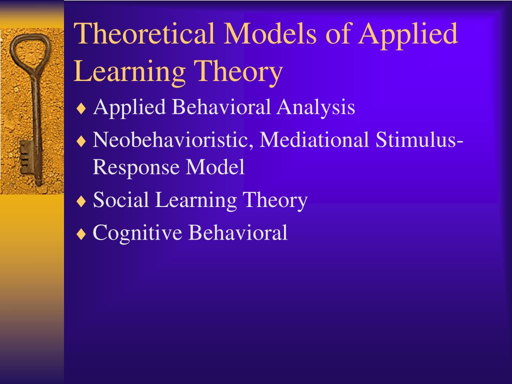 applied learning theory Resources on constructivism, a learning theory found in psychology which explains how people might acquire knowledge and learn.