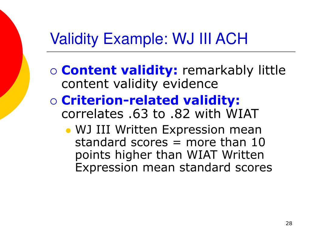 content related validity of the nctt