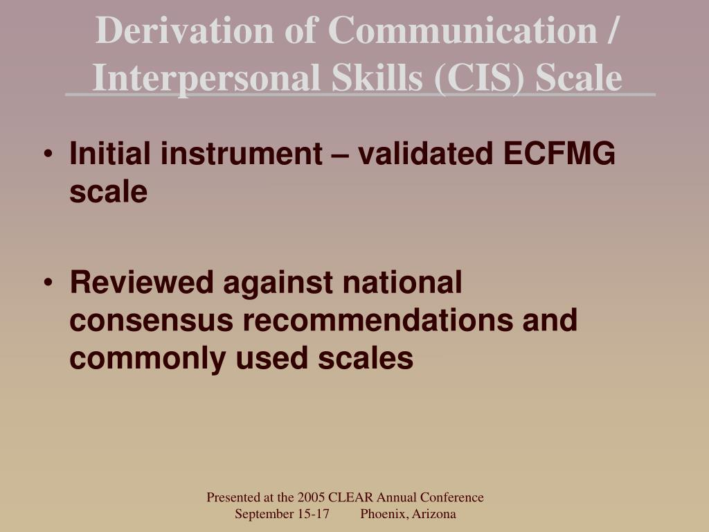 Derivation of Communication /