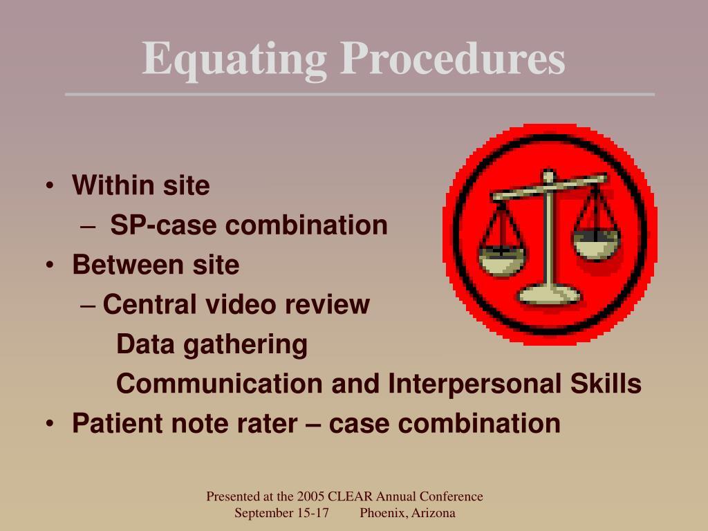 Equating Procedures