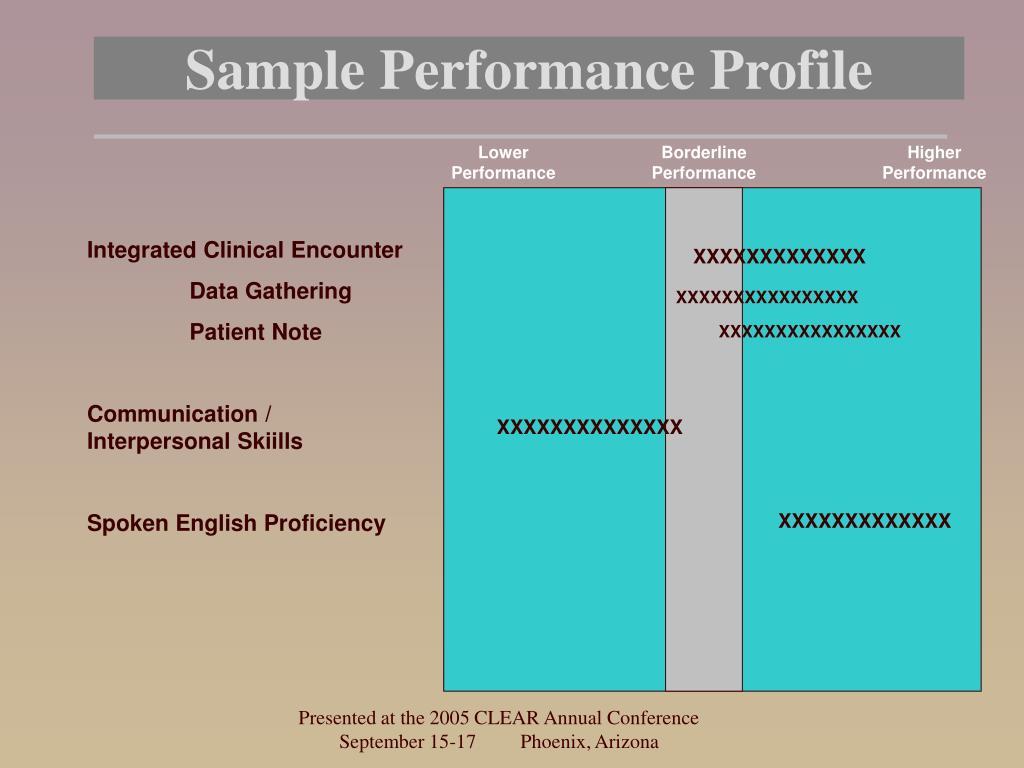 Sample Performance Profile