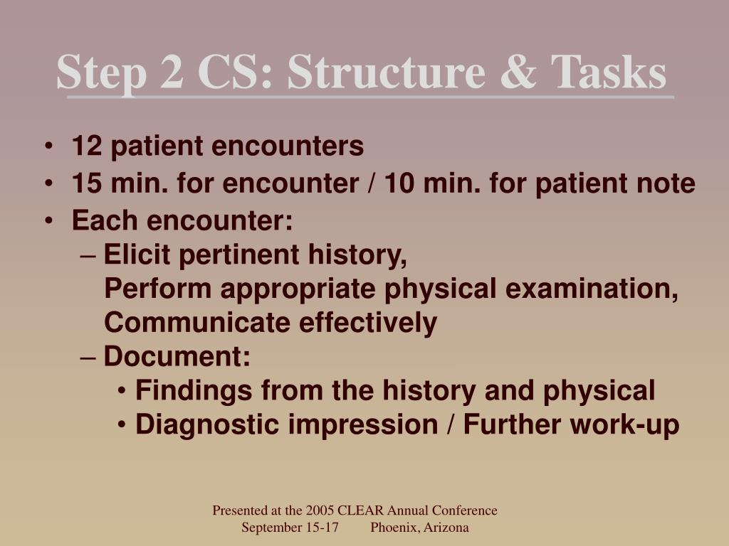 Step 2 CS: Structure & Tasks