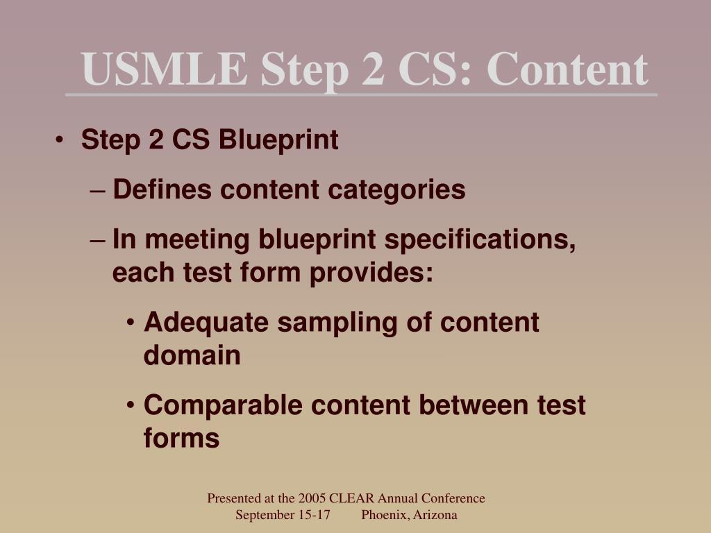 USMLE Step 2 CS: Content