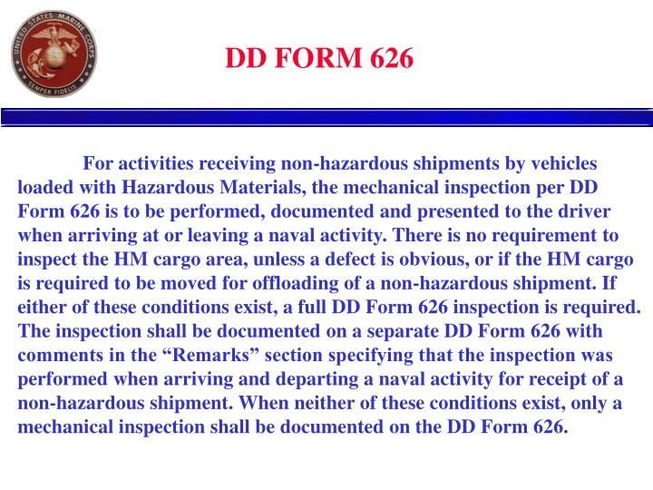 Who May Perform Dd Form 626 Vehicle Inspections - Vehicle Ideas