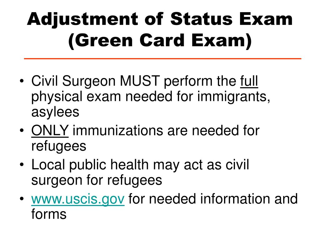 Adjustment of Status Exam (Green Card Exam)