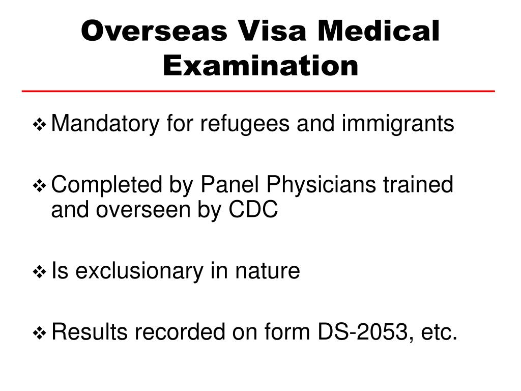 Overseas Visa Medical Examination