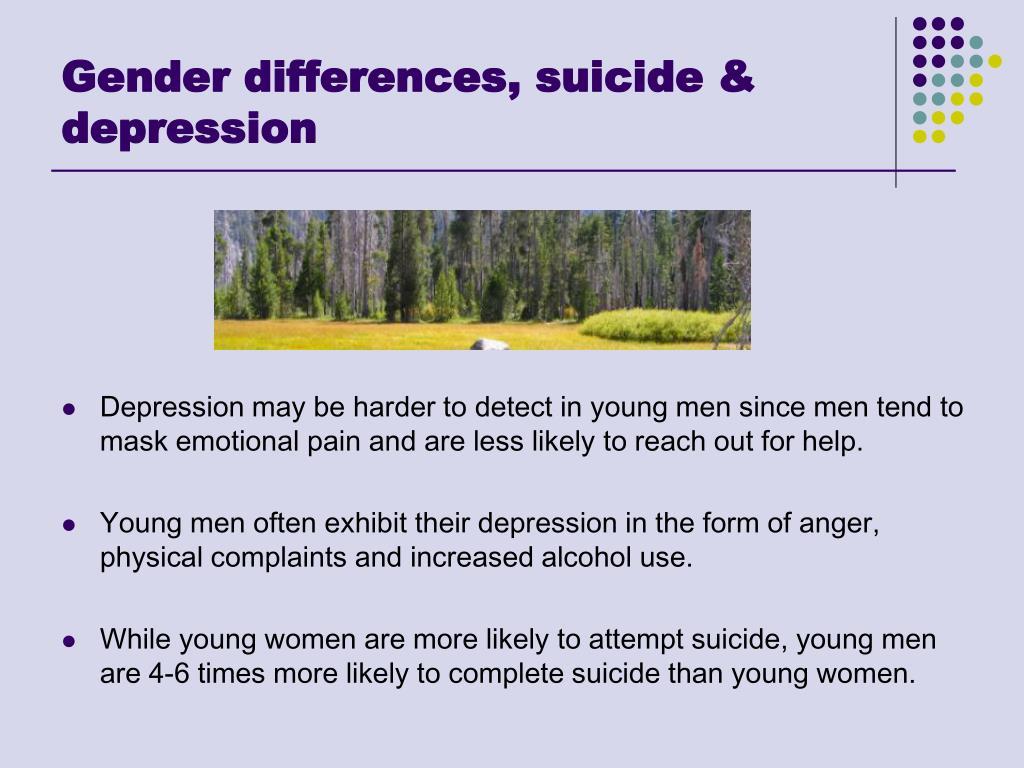 Gender differences, suicide & depression