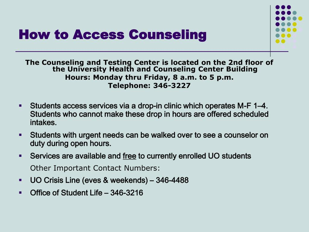 How to Access Counseling