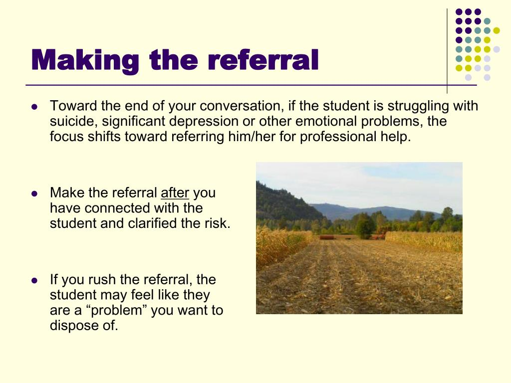 Making the referral
