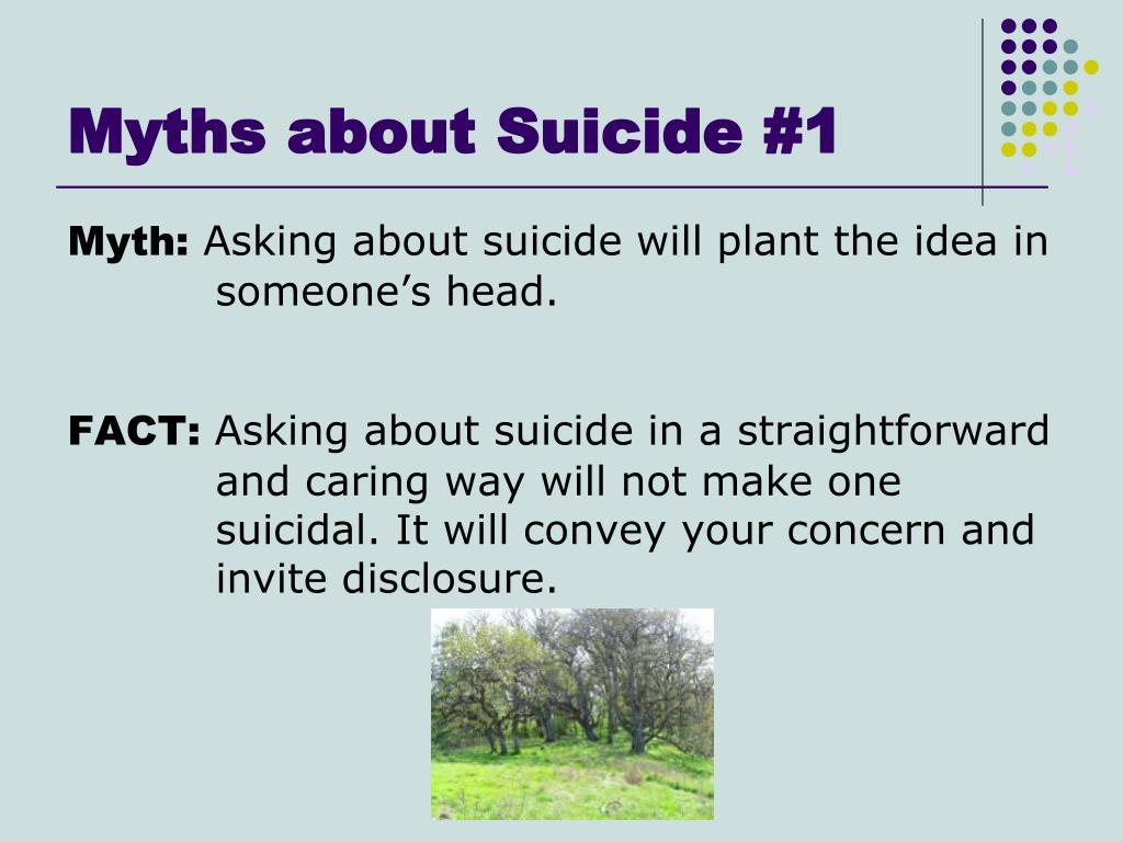 Myths about Suicide #1