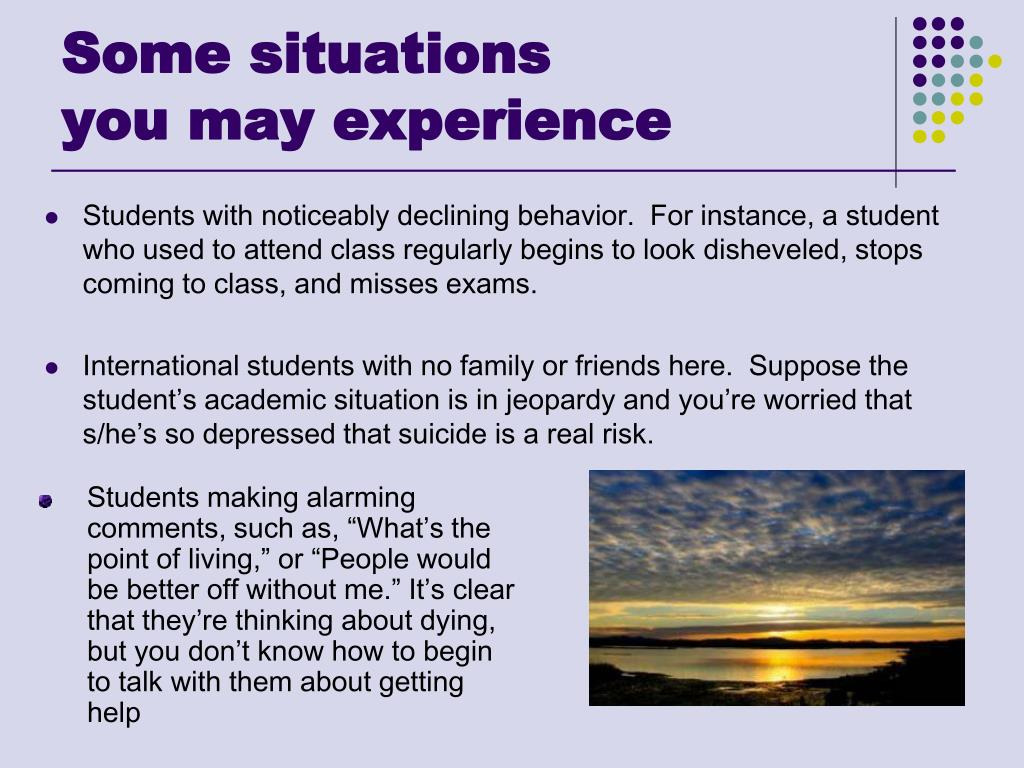 Some situations