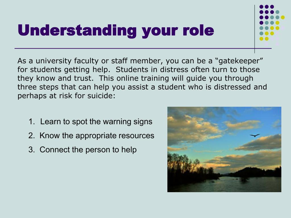 Understanding your role