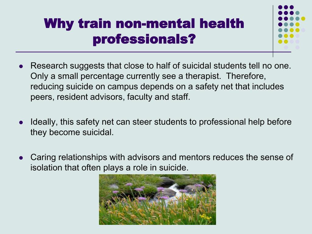 Why train non-mental health professionals?
