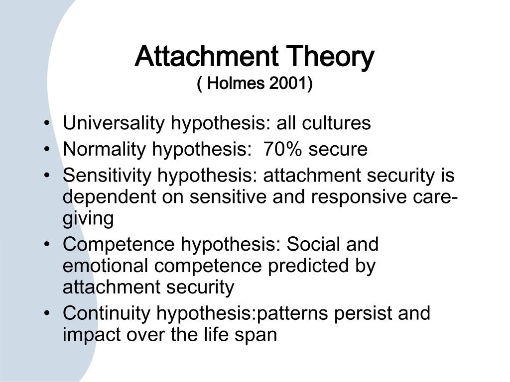 Attachment theory and relationships