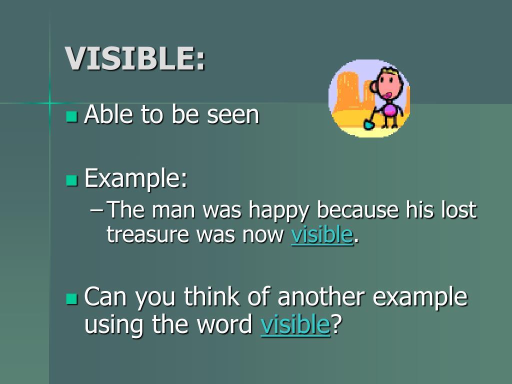 VISIBLE: