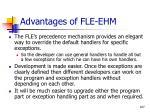 advantages of fle ehm107