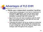 advantages of fle ehm108