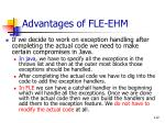advantages of fle ehm112