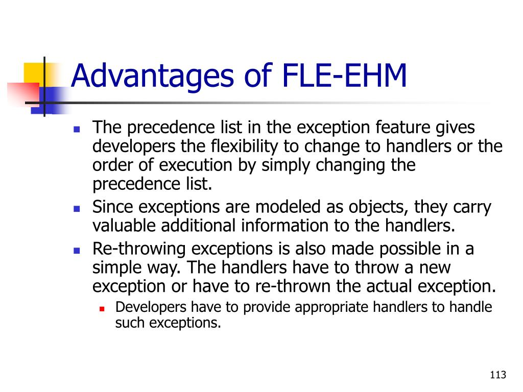Advantages of FLE-EHM