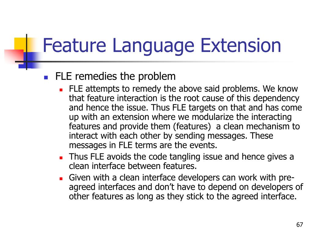 Feature Language Extension