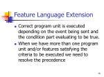 feature language extension75