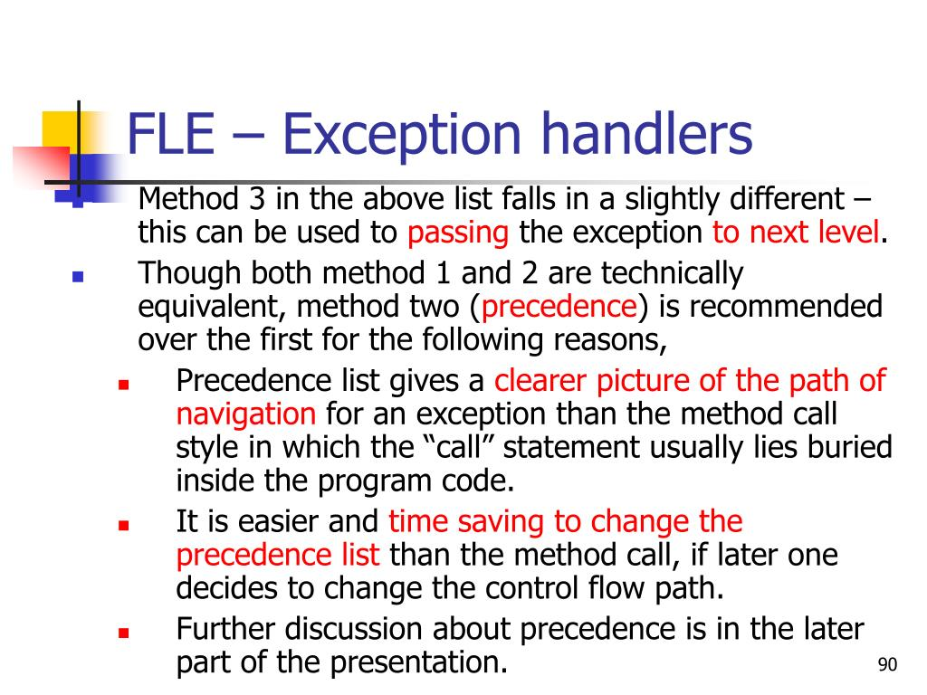 FLE – Exception handlers