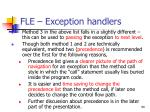 fle exception handlers90