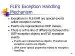 fle s exception handling mechanism79