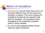 nature of exceptions12