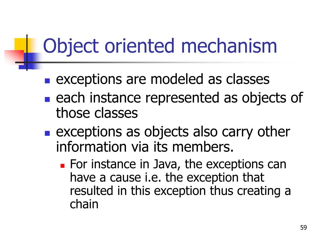 Object oriented mechanism