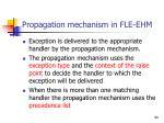 propagation mechanism in fle ehm