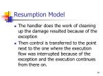 resumption model