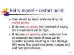 retry model restart point