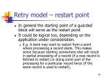 retry model restart point28