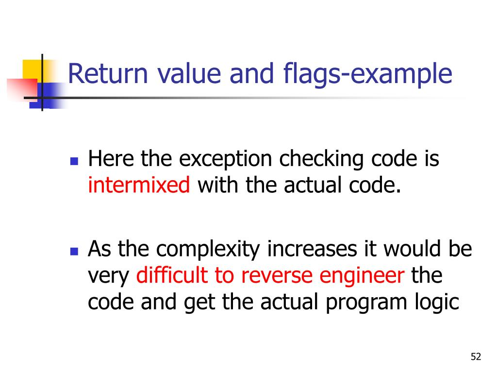 Return value and flags-example