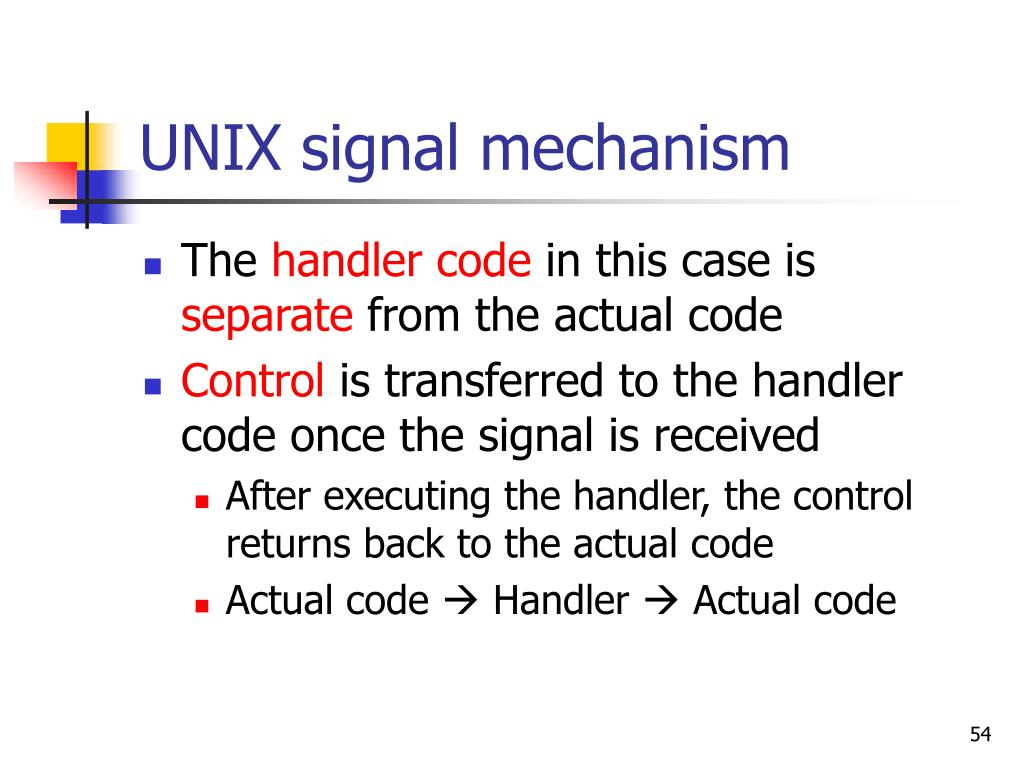 UNIX signal mechanism