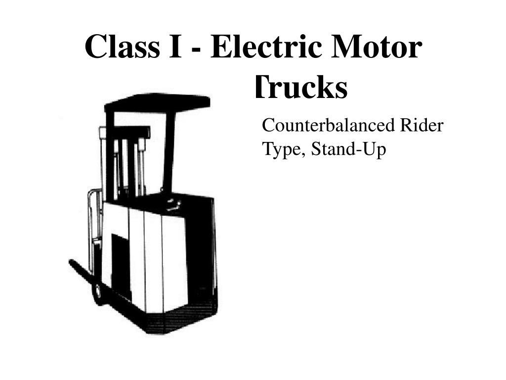 Class I - Electric Motor Rider Trucks