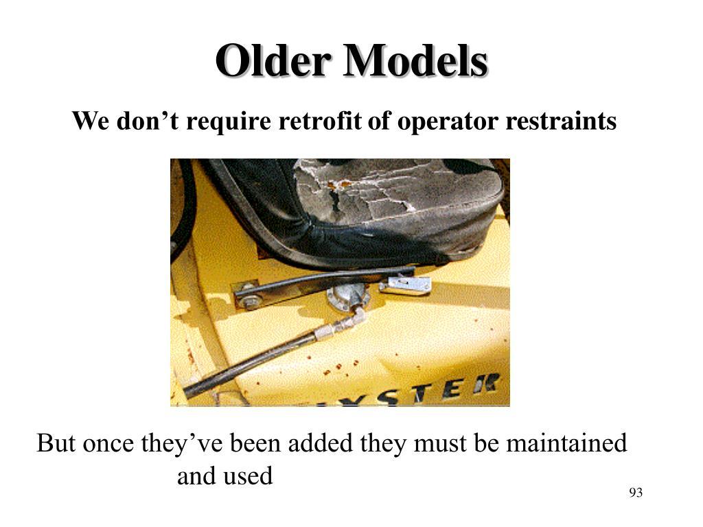 Older Models