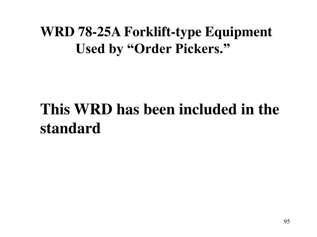 WRD 78-25A Forklift-type Equipment