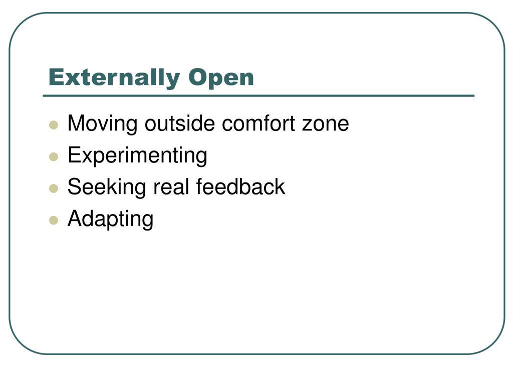 Externally Open