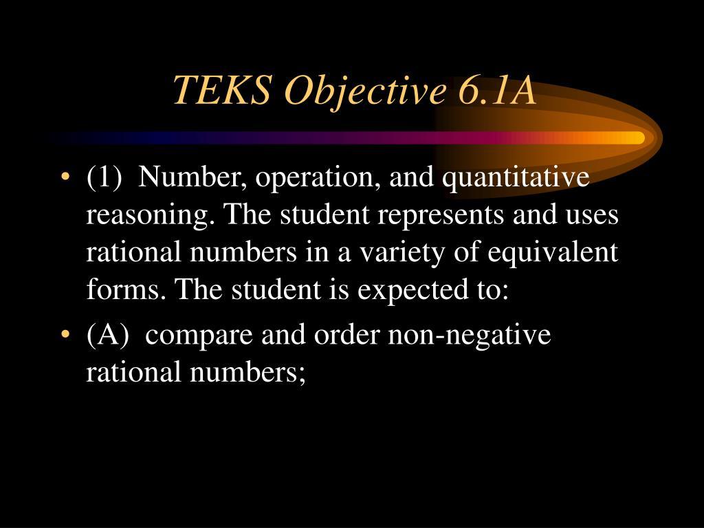 TEKS Objective 6.1A