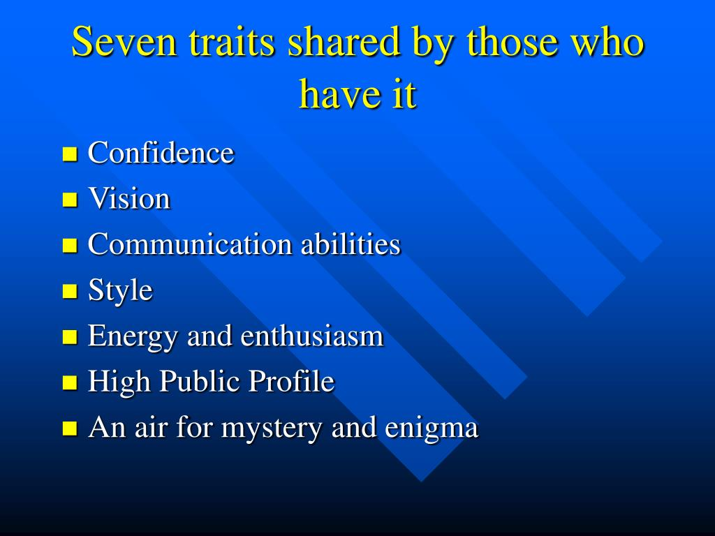 Seven traits shared by those who have it