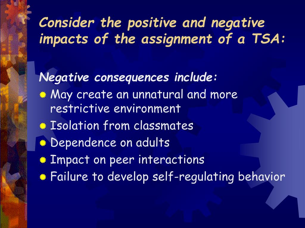 how the negative and positive impacts