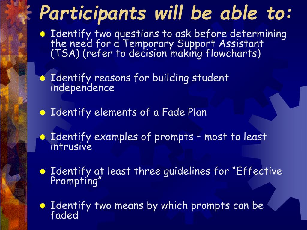 Participants will be able to: