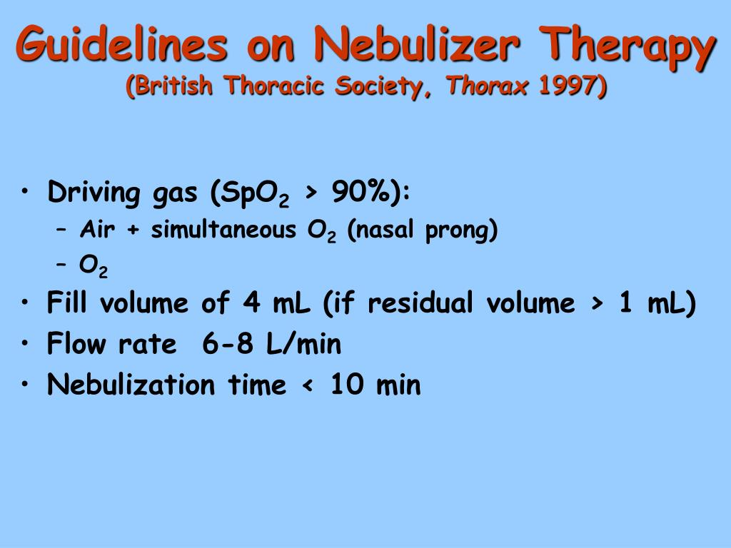 Guidelines on Nebulizer Therapy