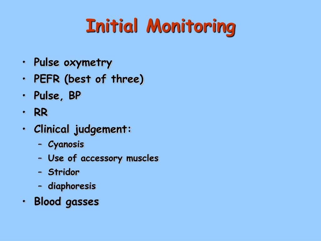 Initial Monitoring
