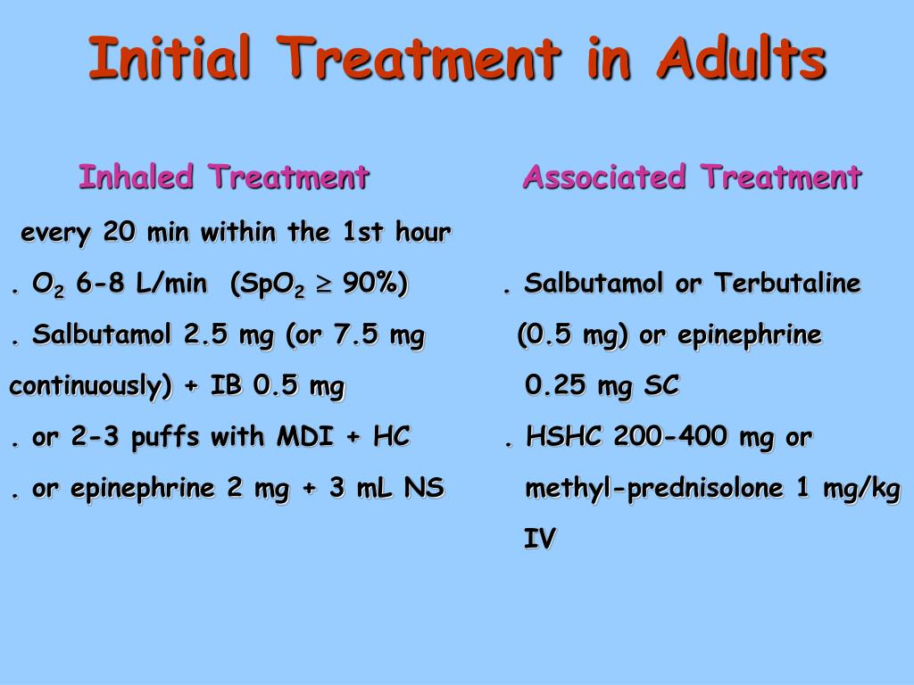 Initial Treatment in Adults