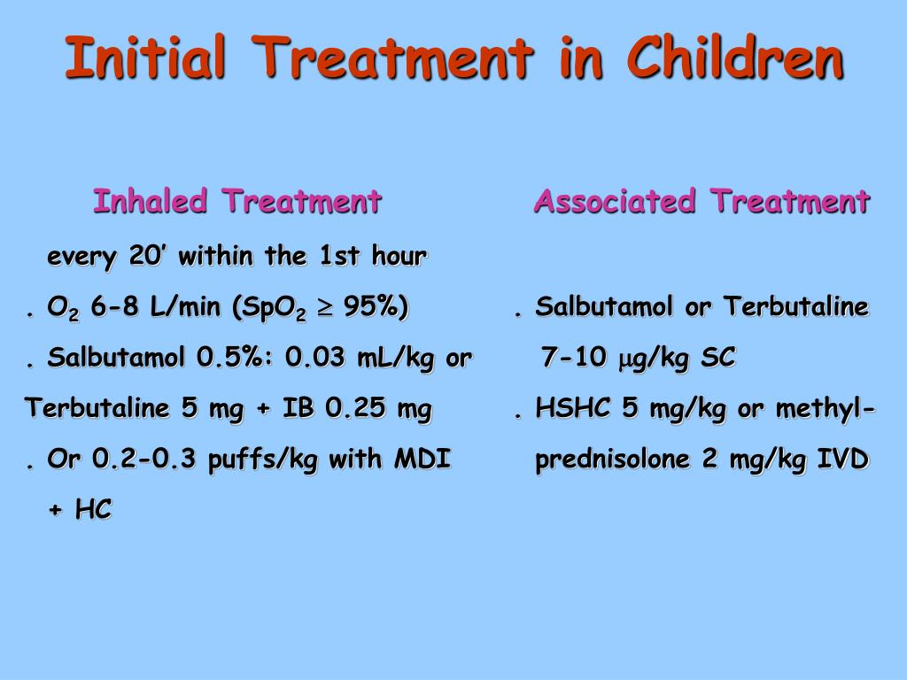 Initial Treatment in Children