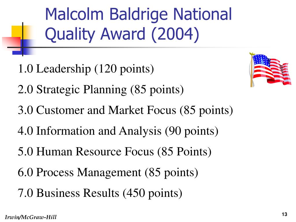 "malcolm baldrige and the evolution of total quality management essay Have evolved into the present day total quality management (tqm) is that which   concepts"", the malcolm baldrige ""11 core values and concepts"", the swedish "" siq  five essays on quality management – presented in honor of homer."